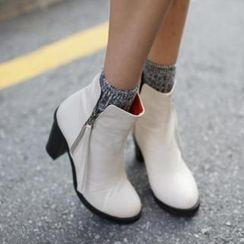 midnightCOCO - 粗跟踝靴
