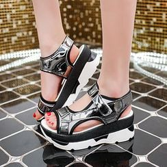 Simply Walk - Platform Velcro Sandals