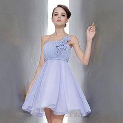 Bridal Workshop - One-Shoulder Rosette Party Dress