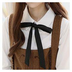 Sechuna - Detachable Ribbon-Accent Shirt