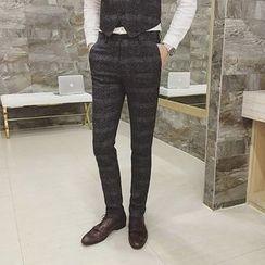 Simsam - Plaid Slim Fit Pants