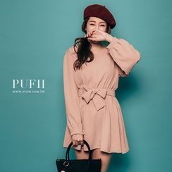 PUFII - Bow Tie-Waist Dress