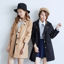 BAIMOMO - Drawstring Trench Coat