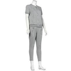 Small Mosquitoes - Set: Zip Jacket + Harem Pants