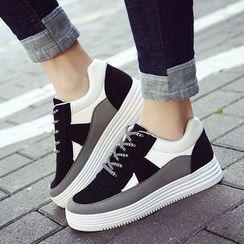 Kicko - Contrast Color Platform Sneakers