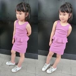Happy Lala - Kids Set: Sleeveless Top + Skirt