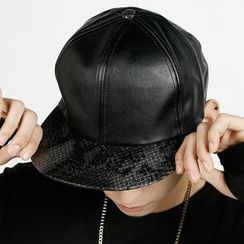 Rememberclick - Faux-Leather Baseball Cap