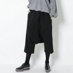 FASHION DIVA - Wide-Leg Cropped Harem Pants