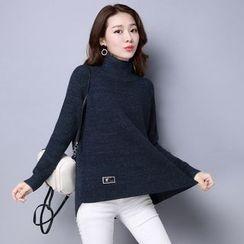 Romantica - Side-Zip Turtleneck Sweater