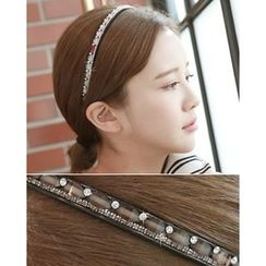 Miss21 Korea - Faux-Gem Trim Hair Band