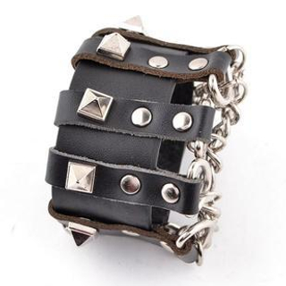 Trend Cool - Chained & Studded Bracelet