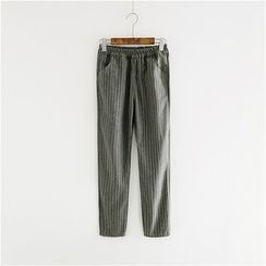 Storyland - Cropped Striped Pants