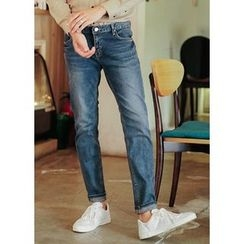 JOGUNSHOP - Washed Straight-Cut Jeans