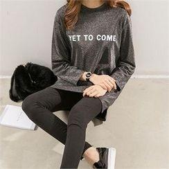 PEPER - Slit-Side Lettering T-Shirt