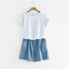 Storyland - Short-Sleeve Striped T-Shirt