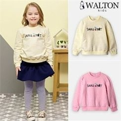 WALTON kids - Girls Printed Lettering Sweatshirt