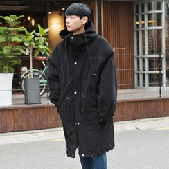 TOMONARI - Hooded Loose-Fit Cotton Parka