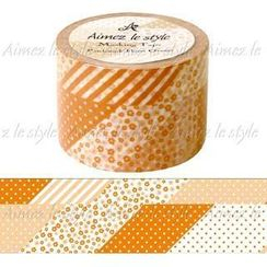 Aimez le style - Aimez le style Masking Tape Wide Patchwork Flower Orange