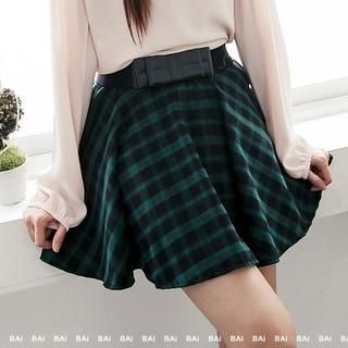 BAIMOMO - Plaid Skirt