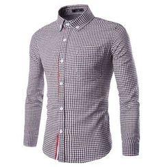 Fireon - Gingham Check Long-Sleeve Shirt
