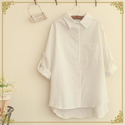 Fairyland - Tab-Sleeve Dip-Back Shirt
