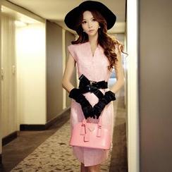 粉紅大布娃娃 - 腰帶連衣裙
