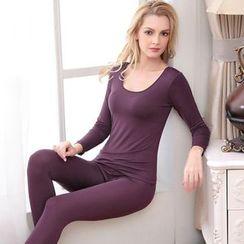 camikiss - Plain Long-Sleeve T-Shirt