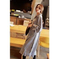 Momnuri - Maternity Pattern Chiffon Long Shirtdress