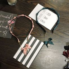 華娟 - 珍珠蝴蝶結髮箍