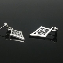 Sterlingworth - Tinted Sterling Silver Dangle Single Earring