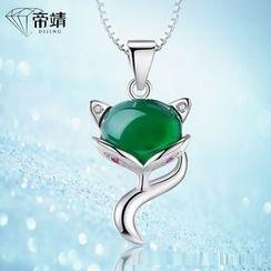 DIJING - Fox Jade Pendant Necklace