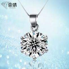 DIJING - Rhinestone Sterling Silver Necklace