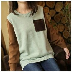Clover Dream - Color-Block Knit Top