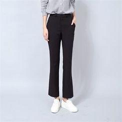 Styleberry - Flat-Front Boot-Cut Pants