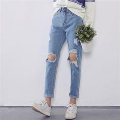 Kojasmine - Distressed Jeans