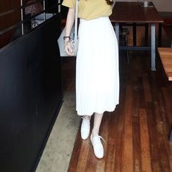 Deedlit - Pleated Maxi Skirt