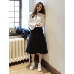 maybe-baby - Ruffled Midi Skirt