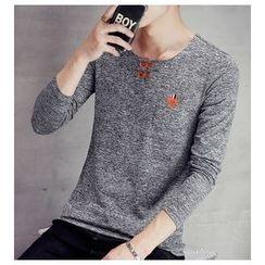 Fisen - Melange Long-Sleeve T-Shirt