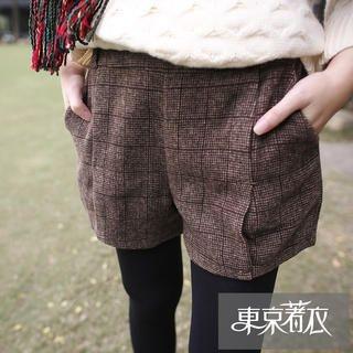 Tokyo Fashion - Elastic-Waist Check Shorts