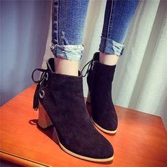 BAYO - 粗跟吊蘇及踝靴