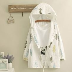 Edelweiss - Printed Hooded Light Jacket