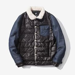 T for TOP - Paneled Padded Buttoned Jacket