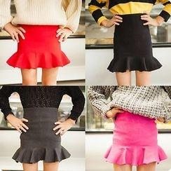 Rakkaus - Kids Ruffled Pencil Skirt