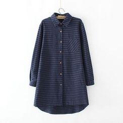 Lina Cota - Pinstriped Long Shirt