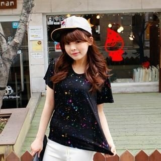 DL jini - Multicolor Splattered T-Shirt
