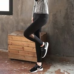 Wheatfield - Mesh-Panel Yoga Pants
