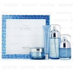 Scinic - AquaEX Set: Essence 130ml + Eye Cream 30ml + Serum 50ml + Cream 50ml