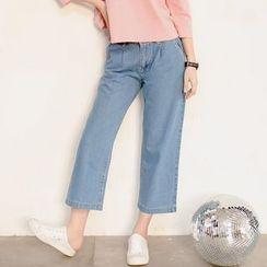 FancyMe - Wide Leg Cropped Jeans