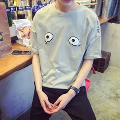 Prep Soul - Eye Applique Short-Sleeve T-shirt