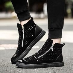 Preppy Boys - Zip Studded Ankle Boots